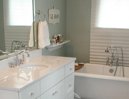 Sage & White Bath