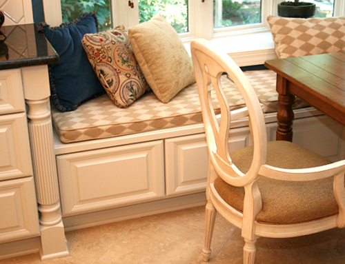 Custom Window Seat Cabinetry